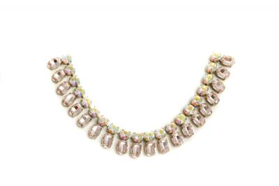 CATENA A COLLIER CON PIETRE LT. ROSE/CRYSTAL AB  CONF. 25 CM